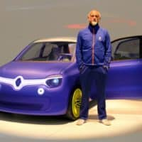 Ross Lovegrove with the Renault Twin'Z concept