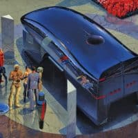 Syd Mead - Black Hypervan