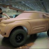 Renault Kwid concept clay modelling